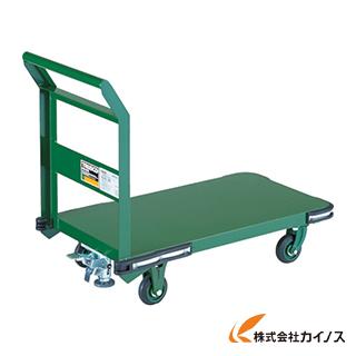 TRUSCO 鋼鉄製運搬車 800X450 Φ100鋳物車輪 LS付 OH-3SS