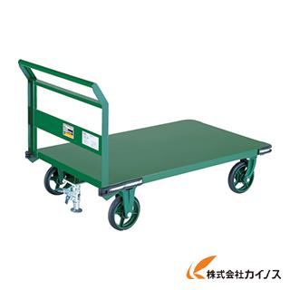 TRUSCO 鋼鉄製運搬車 1200X750 Φ200鋳物車輪 LS付 OH-1SS