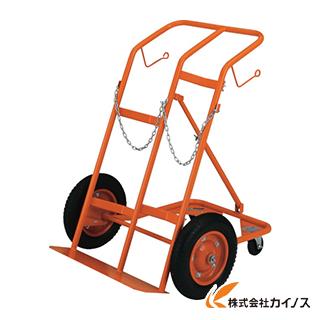 TRUSCO ボンベ台車 四輪安定型 酸素・アセチレンボンベ二本積用 HT-65N