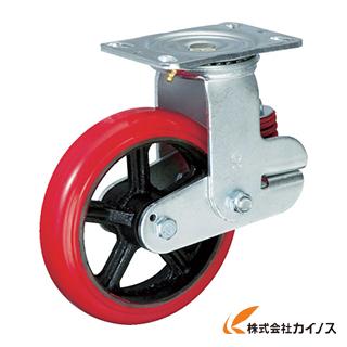 イノアック バネ付き牽引車輪(ウレタン車輪タイプ 自在金具付 Φ150) KTU-150WJ-YS