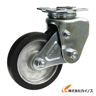 シシク 緩衝キャスター 自在 200径 ゴム車輪 SAJ-TO-200TRAW