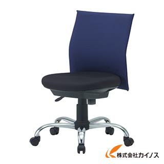 TRUSCO ローバックオフィスチェアー 肘無 ブルー TOFC203B B
