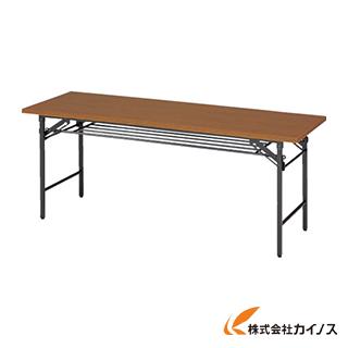 TRUSCO 折りたたみ会議テーブル 1800X600XH700 チーク 1860