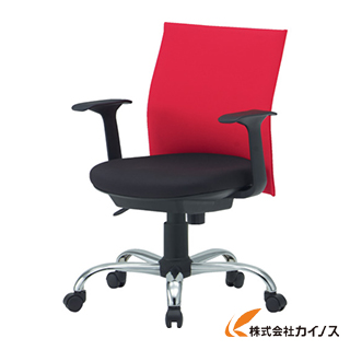 TRUSCO オフィスチェアローバック肘付 オレンジ TOFC203BA OR