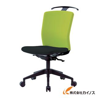 アイリスチトセ ハンガー付回転椅子(シンクロロッキング) グリーン/ブラック HG-X-CKR-S46M0-F-LGY