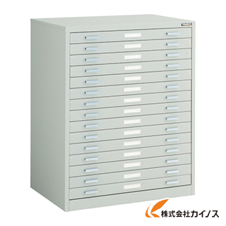 TRUSCO マップケース スチール A2X15段 696X480XH880 A2-1W15