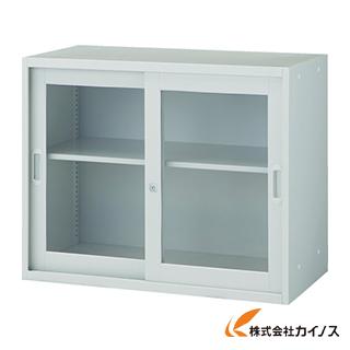 TRUSCO U型壁面書庫 枠付ガラス引違い H1050 W色 UJW-7