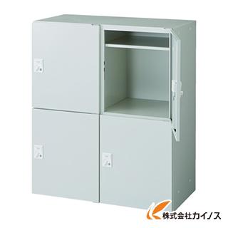 TRUSCO U型壁面書庫 IC錠 片開パーソナル2列2段 投入口付 H10 ULW-11-IC
