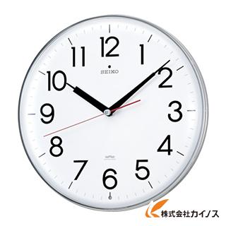 SEIKO アクリルカバー電波掛時計 直径294×47 白 KX301H