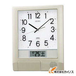 SEIKO 電波プログラムクロック 429×345×57 銀色メタリック PT201S