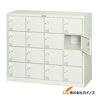TRUSCO シューズケース 16人用 1060X380XH880 シリンダ錠 SC-16WA
