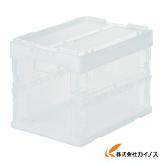【50個セット】TRUSCO スケルコンオリコン20L(蓋付) 透明 TR-SC20 TM