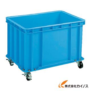 積水 S型コンテナ S-100 キャスター付(自在4ケ内2ケストッパー付き) 青 S-100C
