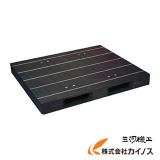 【メール便無料】 黒 プラスチックパレットZD−1315E−RR ZD-1315E-RR-BK:三河機工 片面二方差し 店 カイノス NPC-DIY・工具