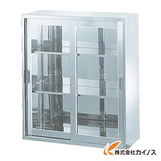 TRUSCO ステンレス保管庫(D400) 枠付ガラス扉 900XH1050 STJ4-11