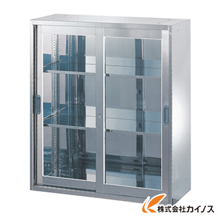TRUSCO ステンレス保管庫(D500) 枠付ガラス扉 900XH1050 STJ5-11