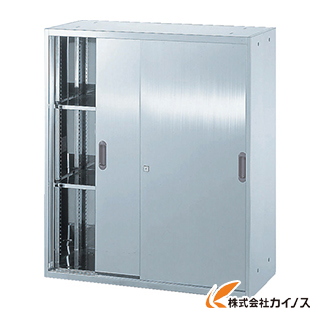 TRUSCO ステンレス保管庫(D500) 引違 900XH1050 STS5-11