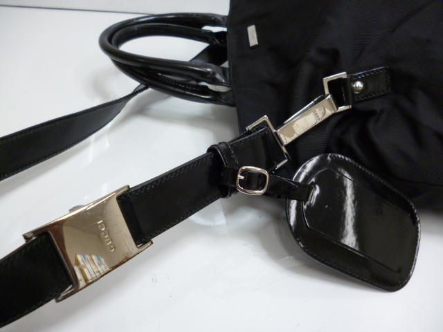 ◇Gucci ◇ GUCCI nylon 2way shoulder bag 019-0283 black ◇ USED/