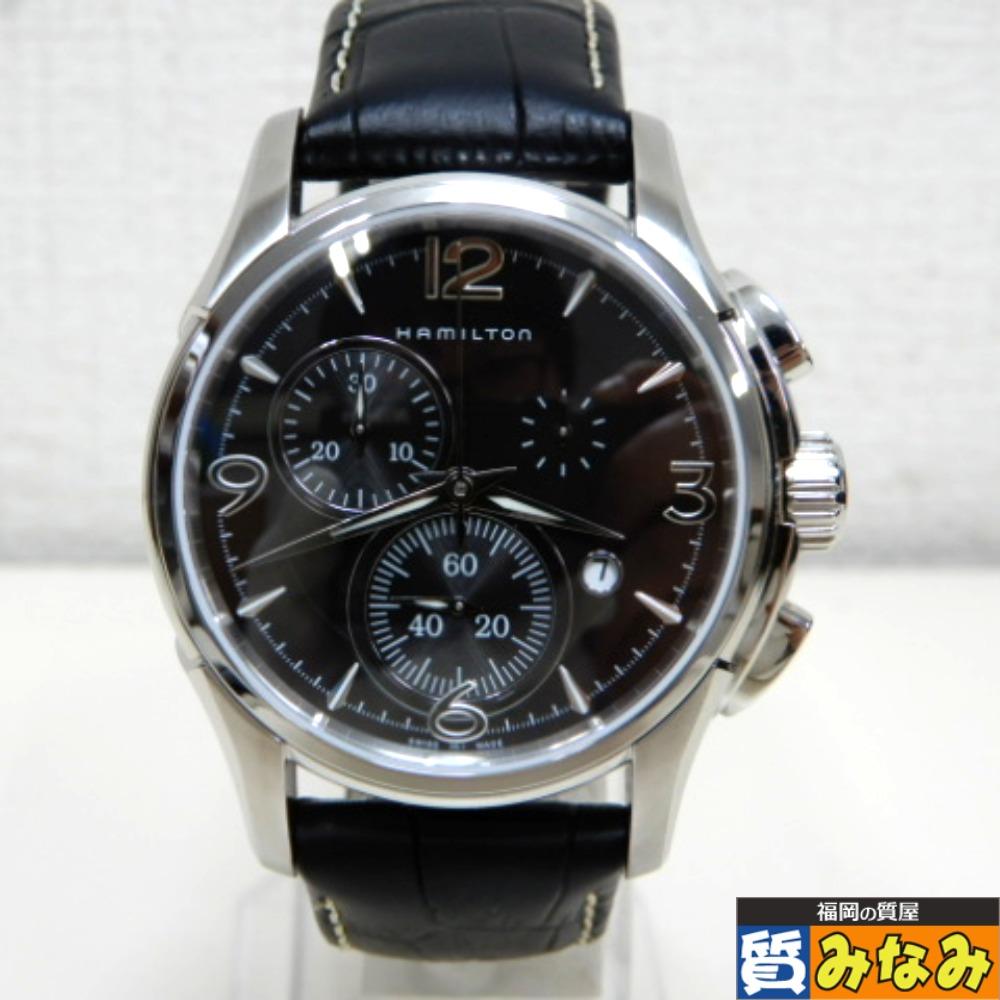 DZ733052 HAMILTON(ハミルトン) ジャズマスター クロノグラフ 腕時計 H326120 【中古】美品
