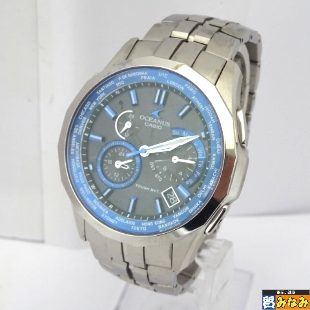 Ft522331 CASIO(カシオ) OCEANUS オシアナス メンズ 腕時計 タフソーラー Manta OCW-S1400【質みなみ・二又瀬店】 【中古】