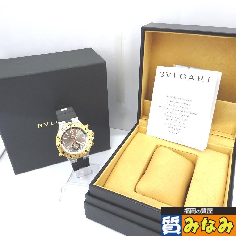 Ft523221 BVLGARI(ブルガリ) メンズ 腕時計 自動巻き ディアゴノ プロフェッショナル GMT40SG【質みなみ・二又瀬店】 【中古】