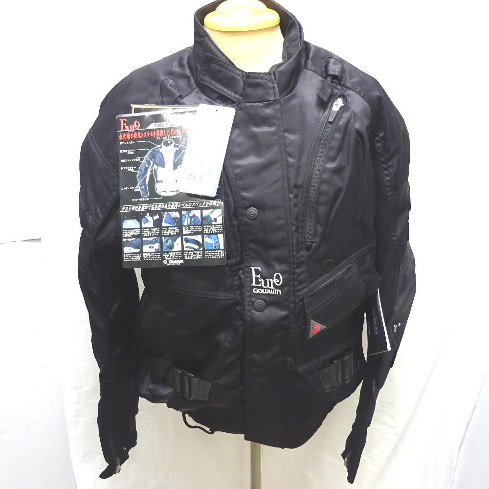 ゴールドウィン バイクウェア ジャケット Euro ゴアテックス GSM2400 #XO ブラック【質みなみ・二又瀬店】【質屋】 GOLDWIN【中古】【新古品・未使用】 Ft835601