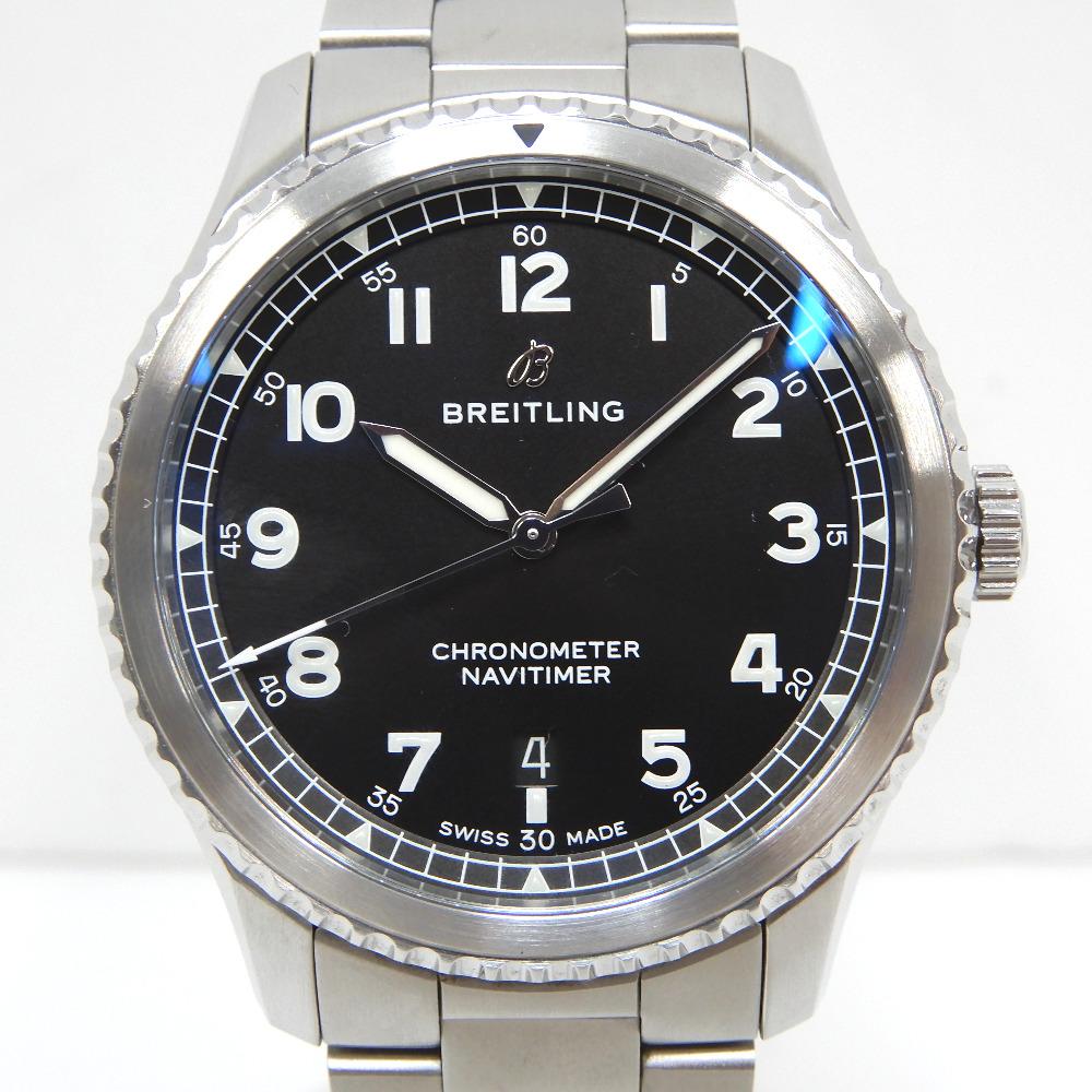 ブライトリング 腕時計 ナビタイマー8 オートマチック41 A17314 ブラック ブラック文字盤【質みなみ・太宰府店】【質屋】 BREITLING 【中古】 Dz272201
