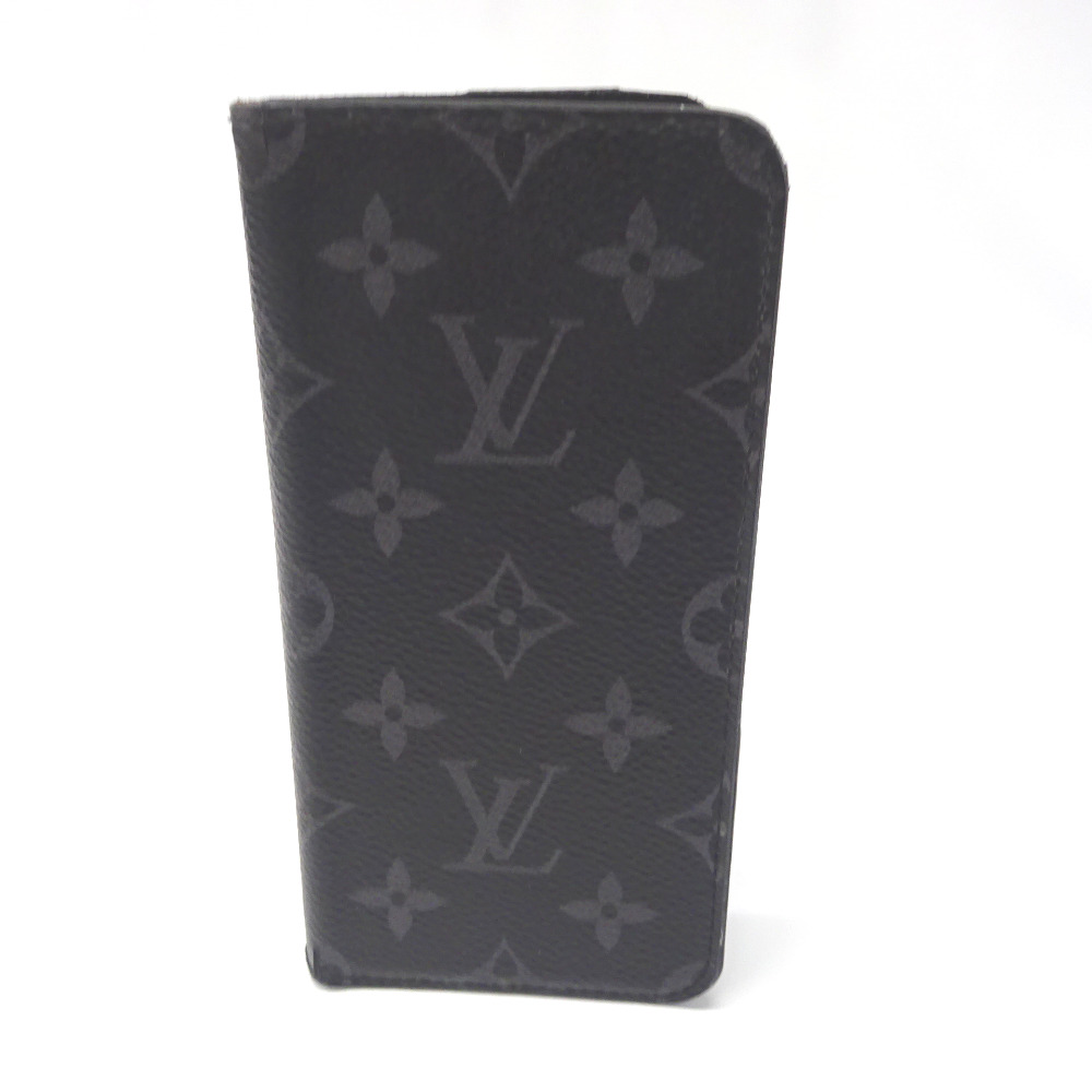 ルイ・ヴィトン iPhone X & XS 用 ケース モノグラム・エクリプス フォリオ イニシャル入 M63446【質みなみ・二又瀬店】【質屋】 LOUIS VUITTON 【中古】 Ft895701