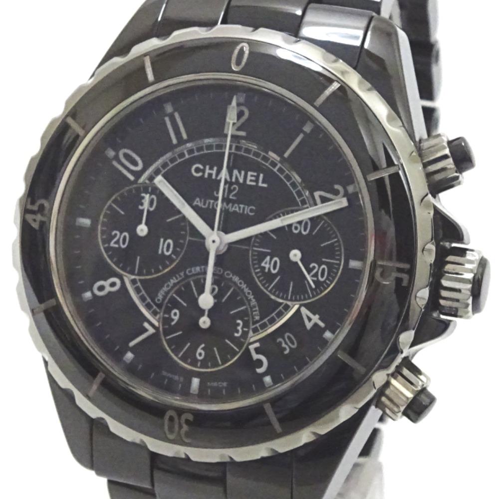 シャネル 腕時計 J12 クロノグラフ H0940 自動巻き ブラック メンズ【質みなみ・荒江店】【質屋】 CHANEL 【中古】 Ae384831