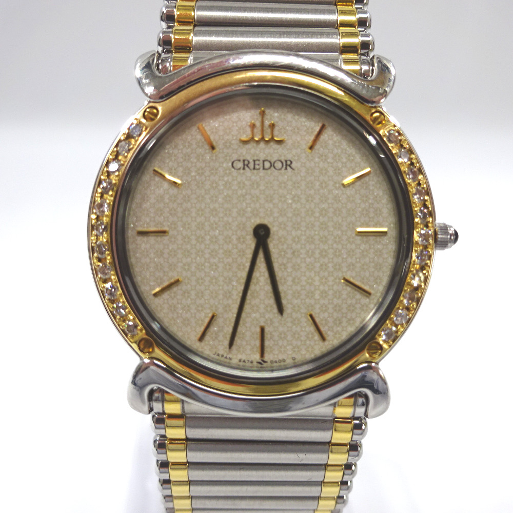 クレドール 腕時計 5A74-0190 ベージュ 系 文字盤【質みなみ・二又瀬店】【質屋】 Credor 【中古】 Ft894891