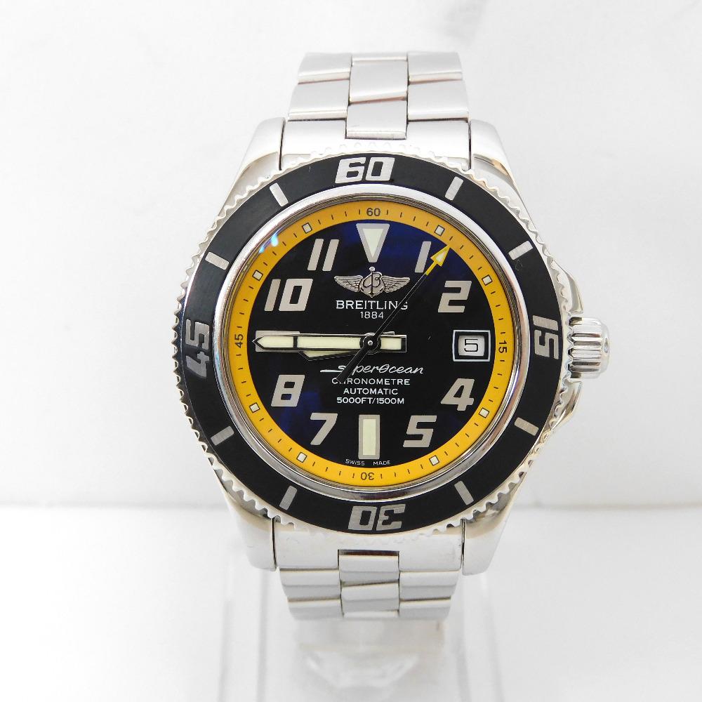 ブライトリング 腕時計 スーパーオーシャン 42 A17364 ブラック文字盤【質みなみ・太宰府店】【質屋】 BREITLING 【中古】 Dz276291