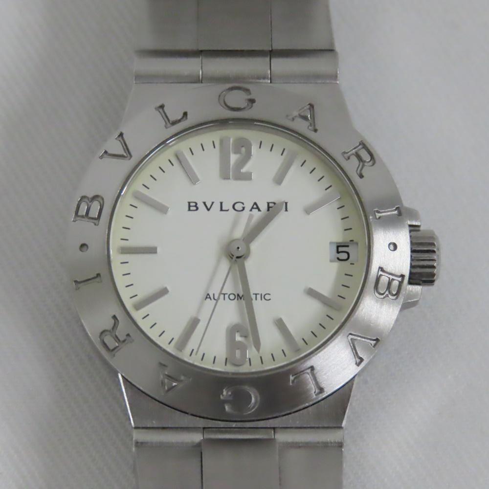 ブルガリ 腕時計 ディアゴノ LCV29S SS 自動巻き 白文字盤 レディース 中古【質みなみ・高砂店】【質屋】 BVLGARI 【中古】 Ts392731