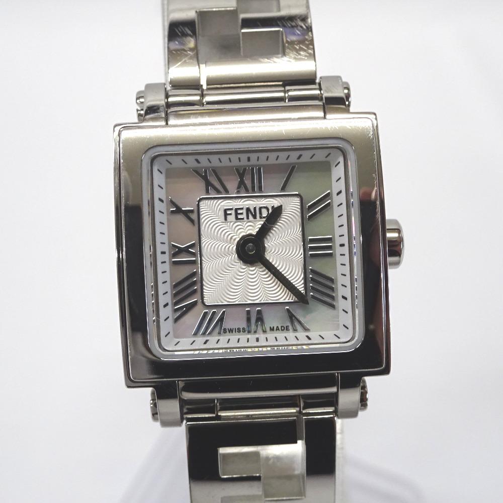 フェンディ 腕時計 クアドロミニ シェル 60500L ホワイト/シェル文字盤【質みなみ・二又瀬店】【質屋】 FENDI 【中古】 Ft540354