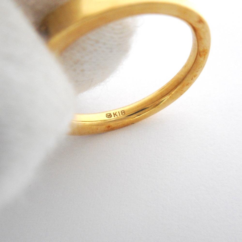 ミキモト リング・指輪 K18YG ペリドット ダイヤモンド11 約5 0g 質みなみ・到津店質屋MIKIMOTOID7012JFcT31lK