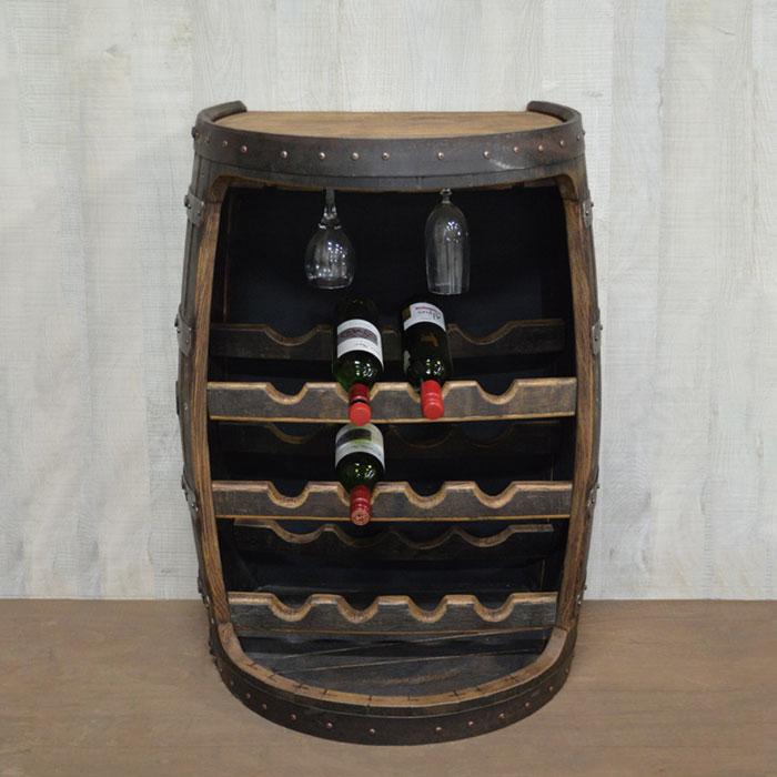 壁付けバレルワインラック オークカラー ワインバー カフェ 古民家 美容院 アンティーク イタリアン 蔵 フレンチ 別倉庫からの配送 バレル傘立て