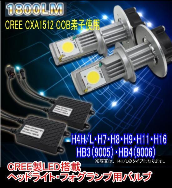 みねや CREE製LED 1800LM ヘッドライト用LED 2020A W新作送料無料 フォグ 新色追加して再販 HB3