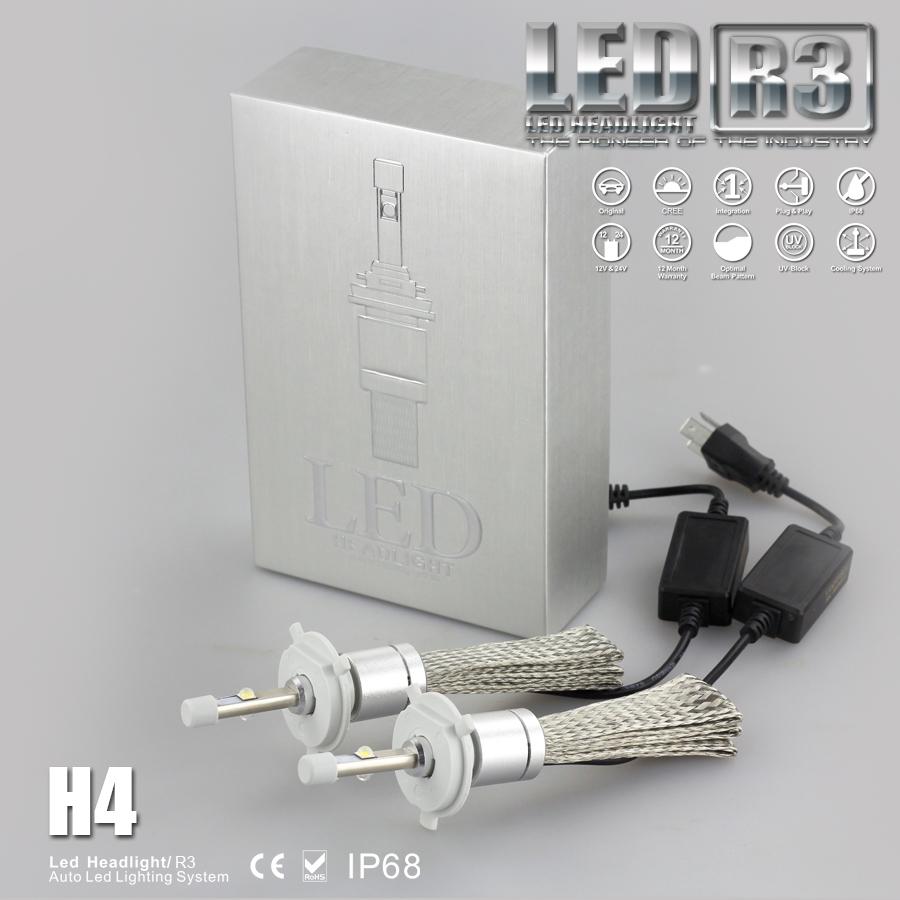 【みねや】CREE LED搭載 4800LM 6000k H1/H3/H4/H7/H8/H11/H16/HB3/HB4【ヒートリボン搭載!】1年保証!【バイク用1灯】※こちらは2個セットではありません。