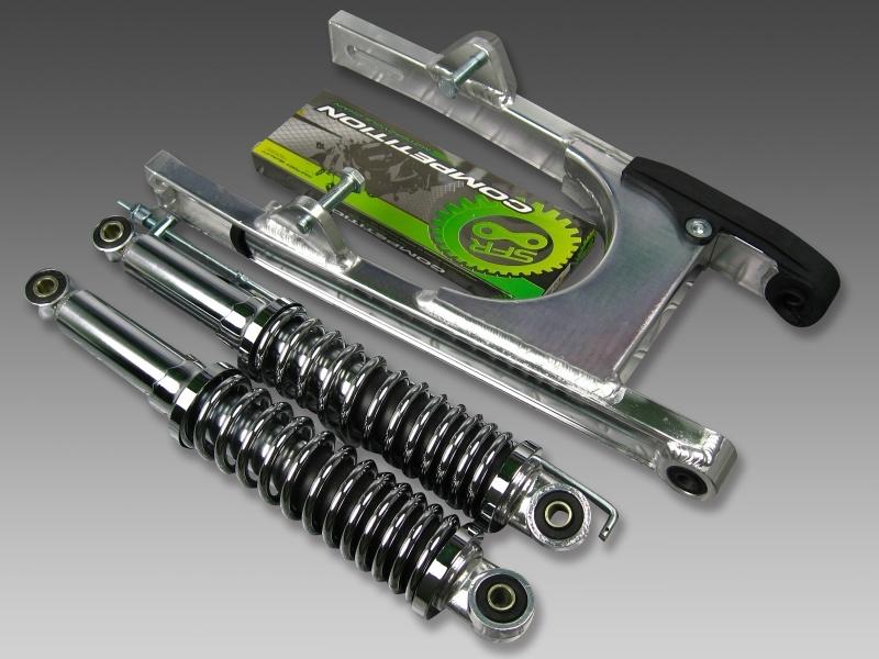 【あす楽】モンキー スイングアーム13cm+リアショック330mm カスタムパーツ NO1425