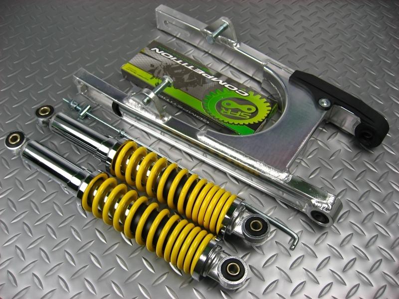 モンキー パーツ リアスイングアーム スイングアーム5cm+リアショック280mmNO1176