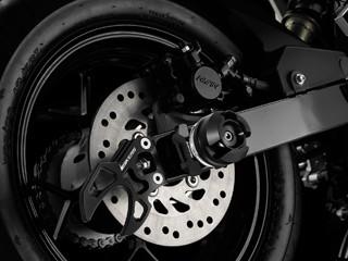 【あす楽】GROM グロム BIKERSリアアクスルスライダー黒 カスタムパーツ NO3401