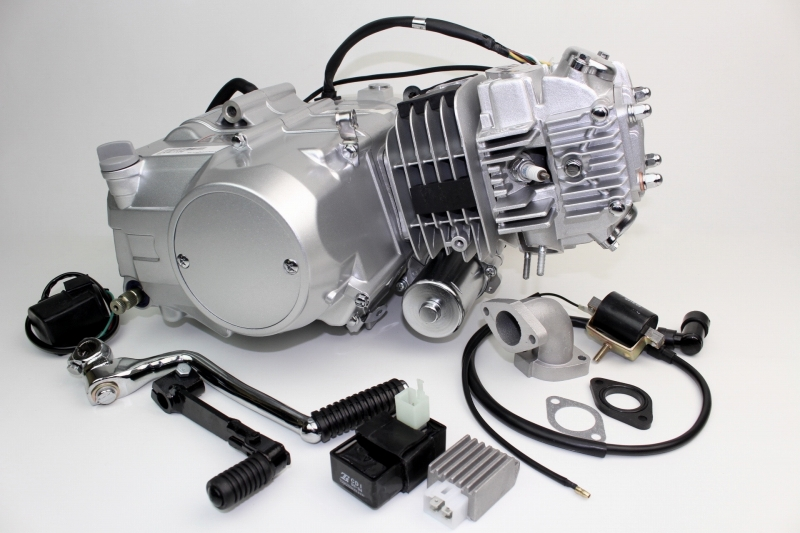 【あす楽】125ccエンジンセル始動方式クラッチレバーなし カスタムパーツ NO0314
