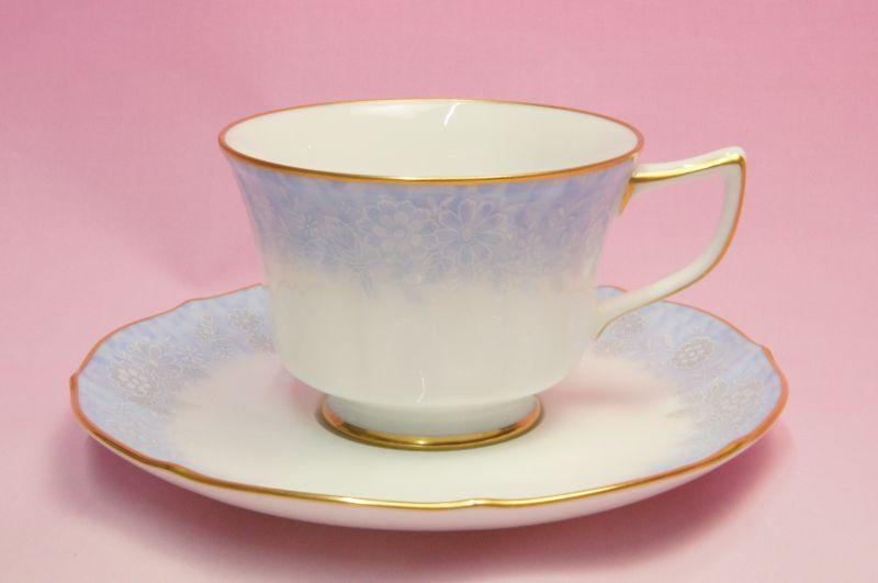 ノリタケ・ダイヤモンドコレクション #5538 フラワーインドリーム ティー・コーヒー碗皿