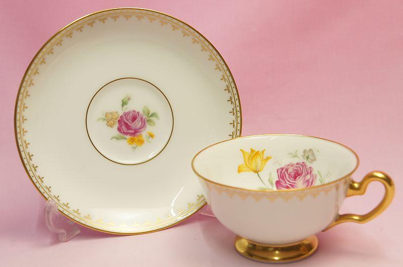 大倉陶園 バラ 碗皿