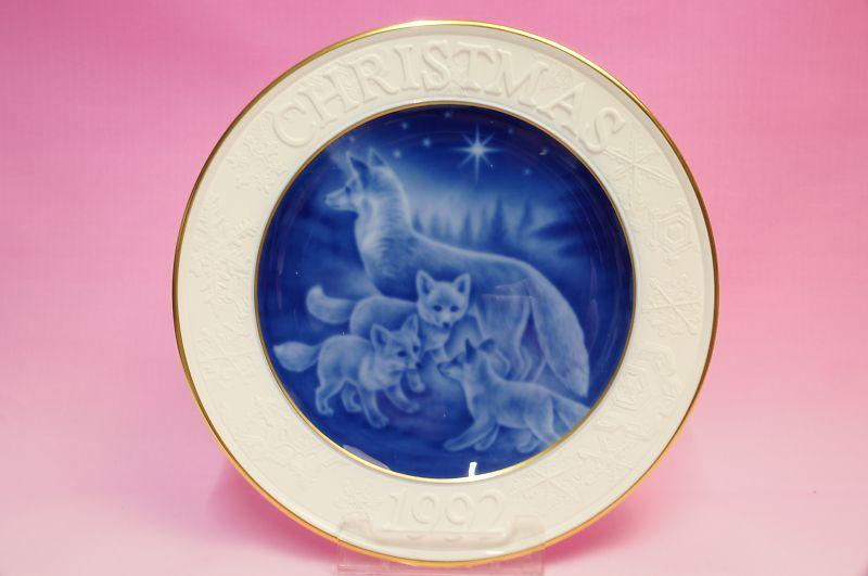 大倉陶園1992年クリスマスプレート「キタキツネ」