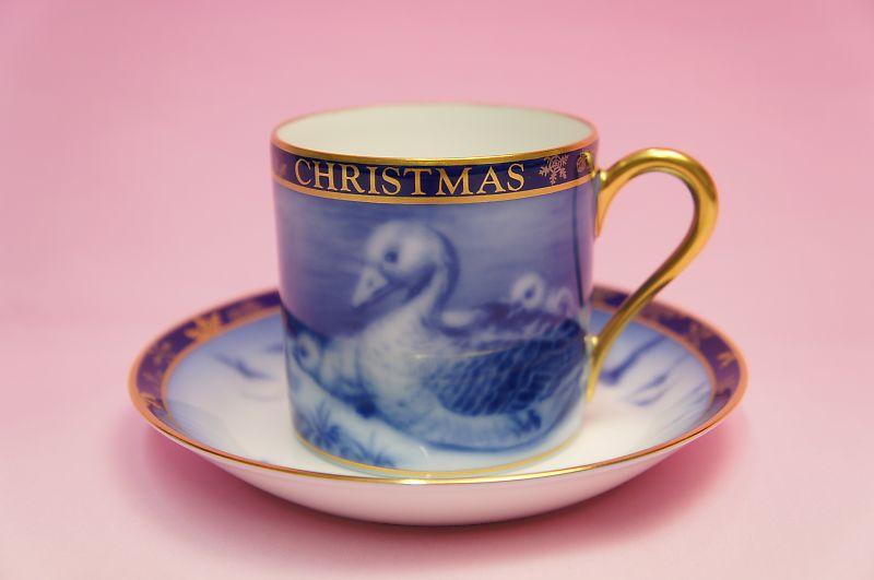 大倉陶園1998年クリスマス碗皿「グース」