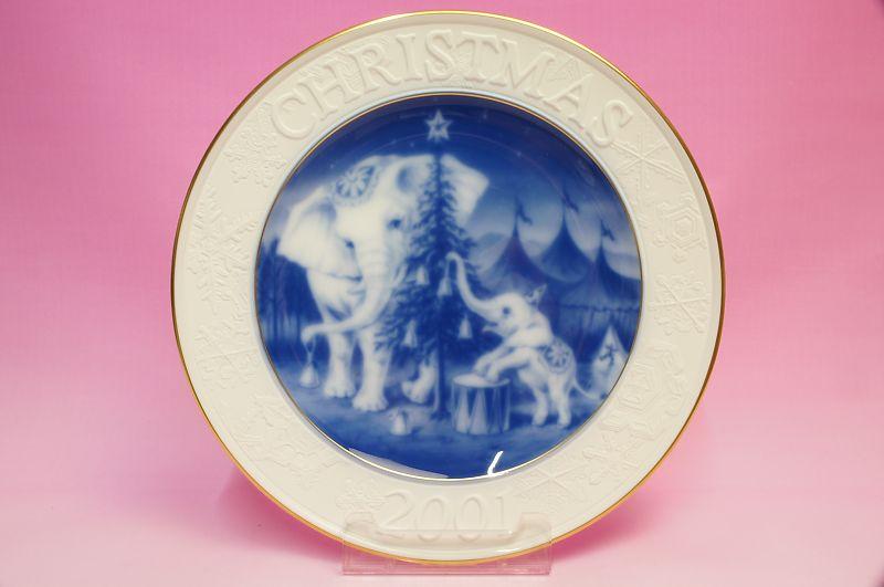 大倉陶園2001年クリスマスプレート「ゾウ」