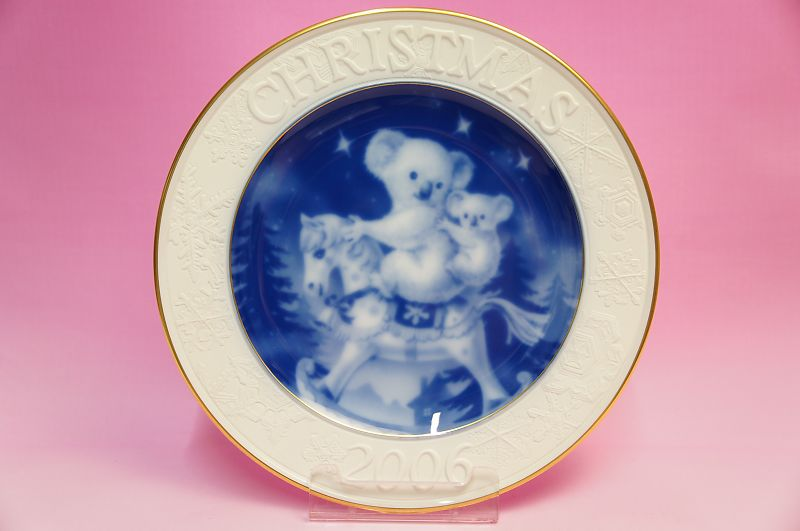 大倉陶園2006年クリスマスプレート「コアラ」