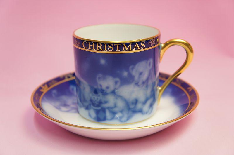 大倉陶園2008年クリスマス碗皿「ライオン」
