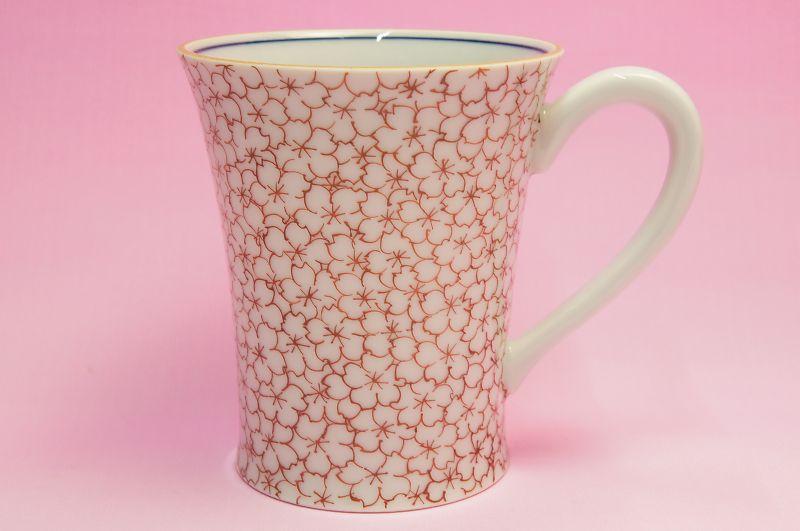 桜花詰 マグカップ(赤)