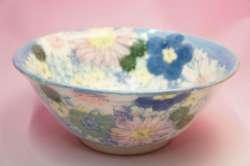ゆずりは 青彩輪花 盛鉢